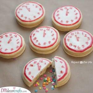 Confetti Clock Cookies - Fun and Festive