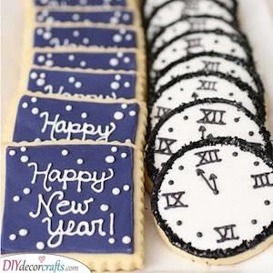 Gorgeous Sugar Cookies - New Years Eve Food Ideas