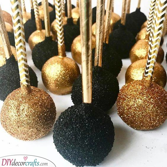 Black and Gold - Chic Cake Pops
