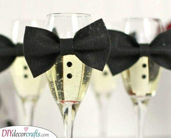 A Fancy Look - Glasses of Champagne