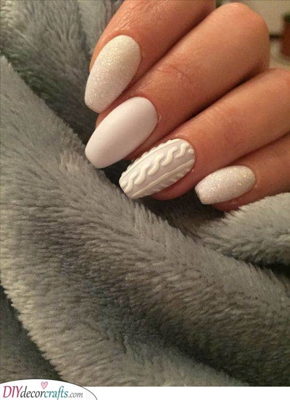 A Knitted Nail - Cute and Cosy