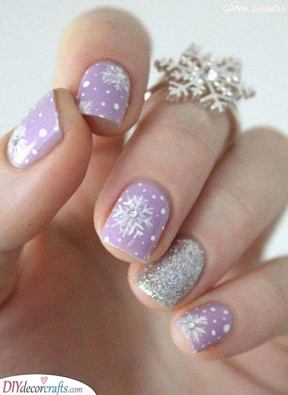Lovely in Lavender - Snowflakes Galore