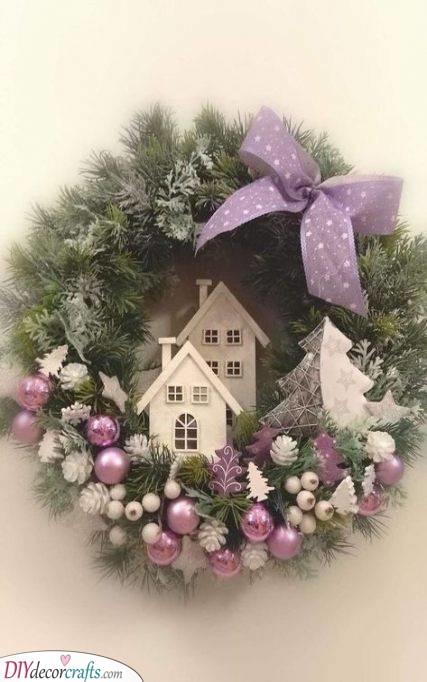 Add a Bit of Purple - Christmas Wreath Ideas