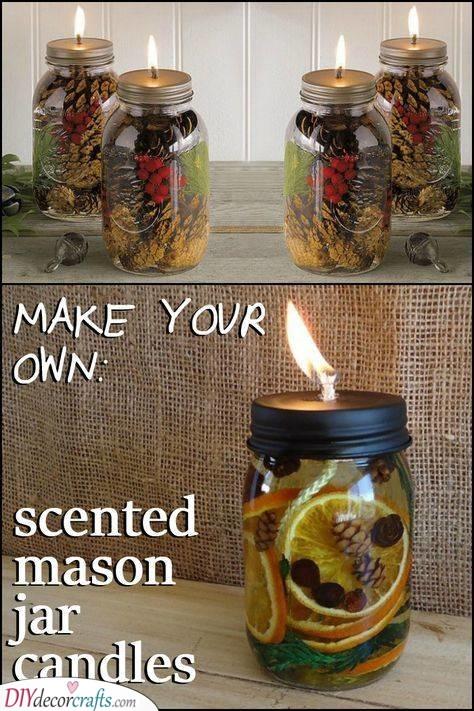 Mason Jar Candles - Christmas Gift Ideas for Girls