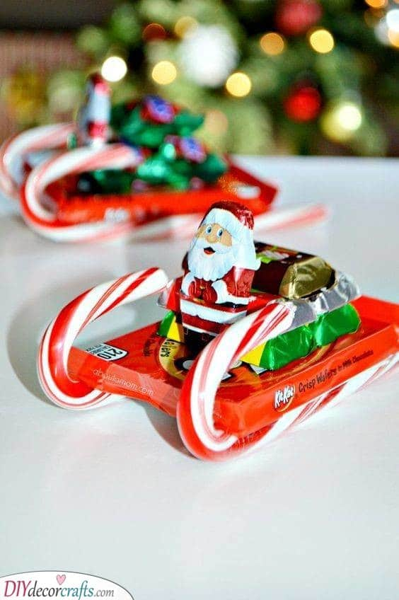 Santa's Sleigh - Made Out of Candy