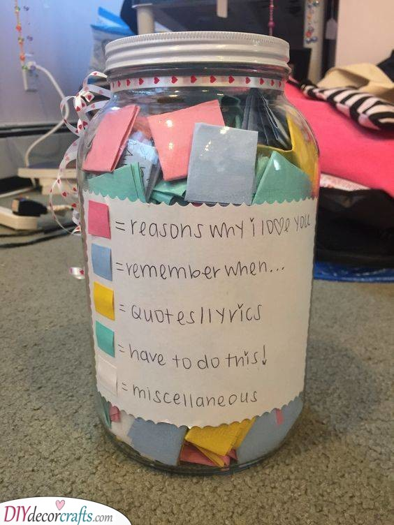 A Jar of Reasons - Best Christmas Gifts for Women