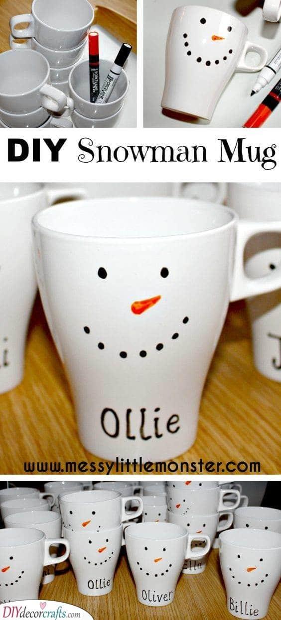 Snowman Mug - Christmas Gifts for Girls
