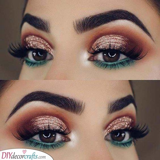 Gold and Green - Christmas Makeup Ideas