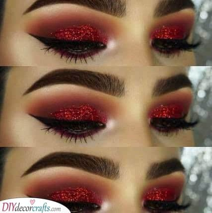 Red and Fiery - Christmas Party Makeup