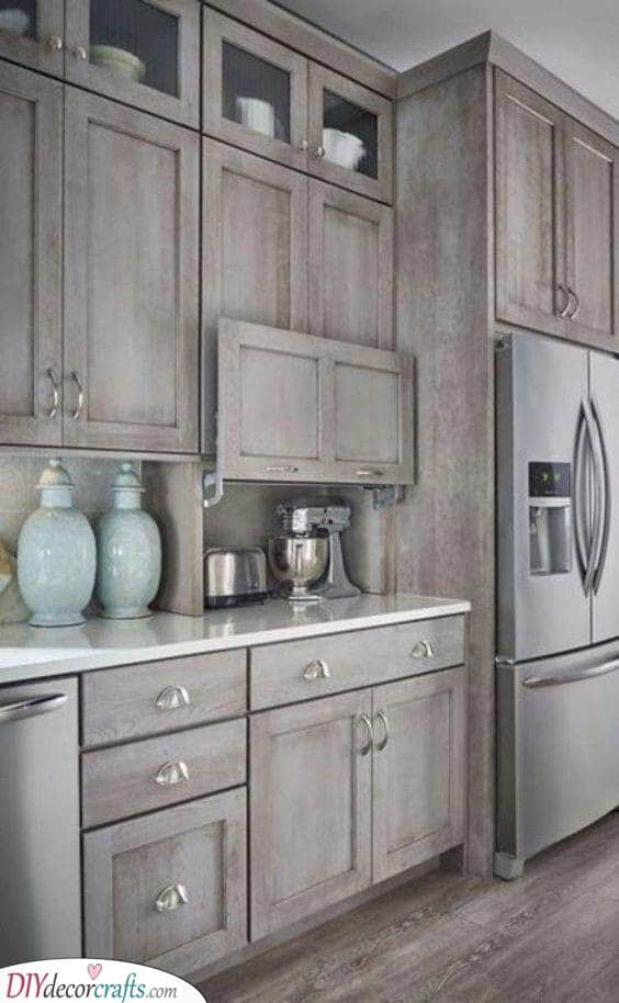 Simple and Gorgeous – Wooden Kitchen Cabinet Design Ideas