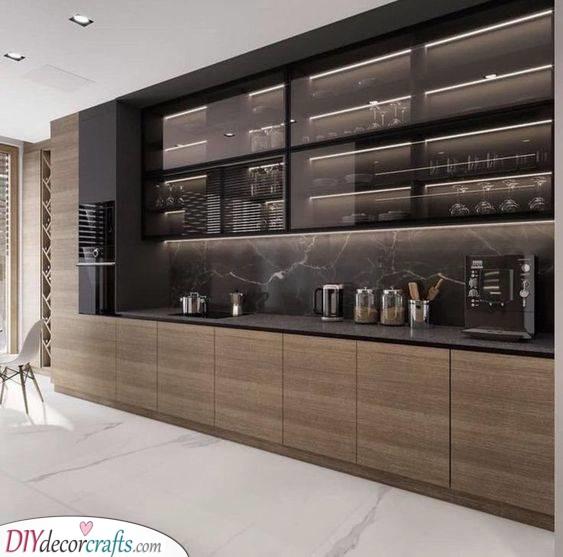 Chic and Minimalist - Kitchen Cabinet Storage Ideas