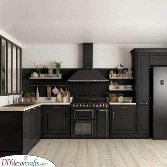Black and White - Kitchen Cabinet Storage Ideas