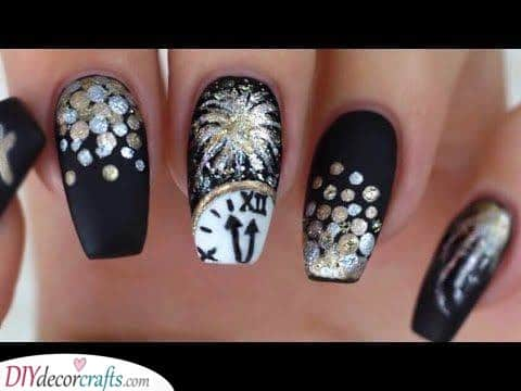 Celebration and Fun - New Years Eve Nail Designs