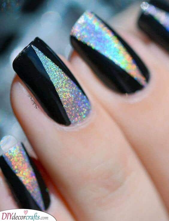 A Modern Twist - Sparkly New Years Nail Ideas