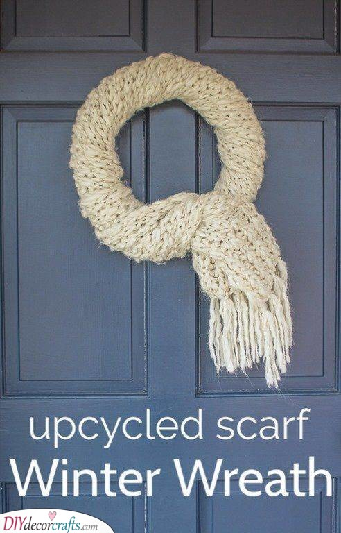Recycled Scarf - Winter Door Decorations