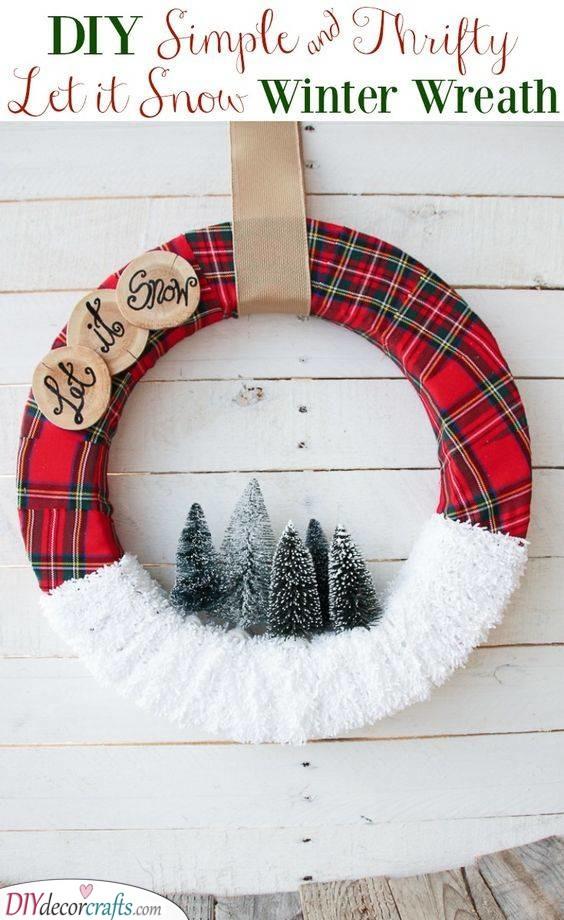 Let it Snow - Winter Wreath Ideas