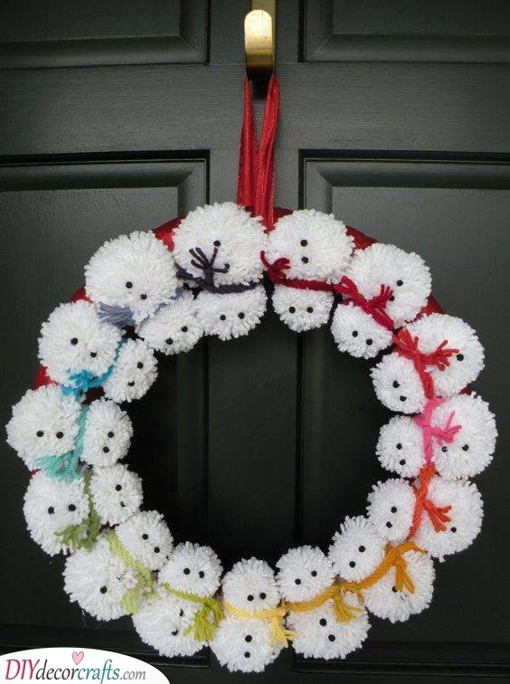 A Multitude of Snowmen - Creative With Pompoms