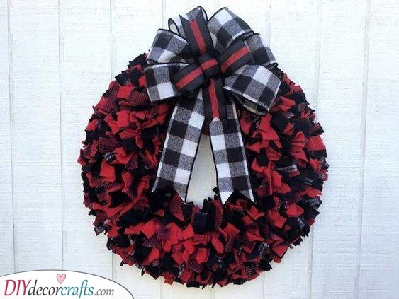 Frilly and Plaid - Winter Door Decorations