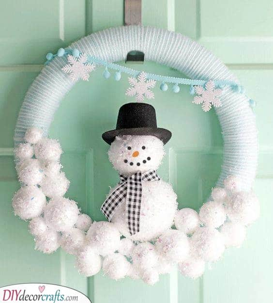 An Adorable Snowman - Happy and Cute
