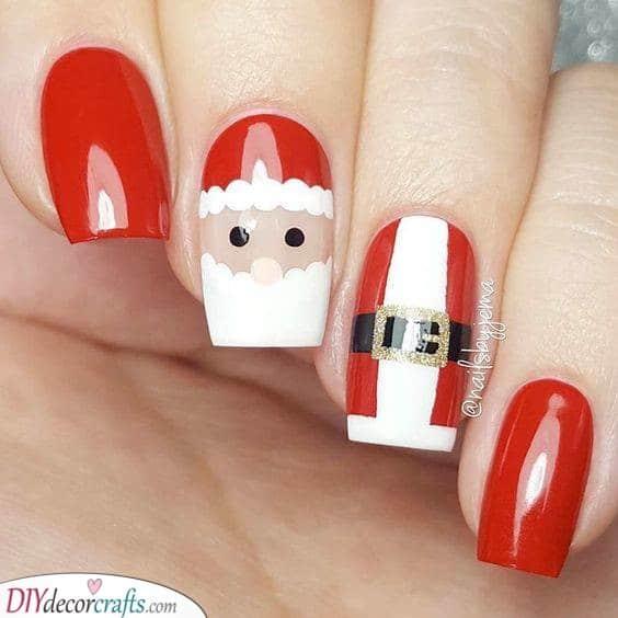 Santa Claus - Christmas Nail Designs