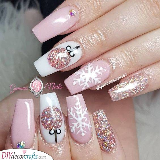 Pretty in Pink - Sparkly and Glamorous