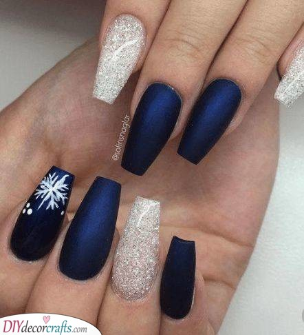 Metallic Blue - Mixed With Silver