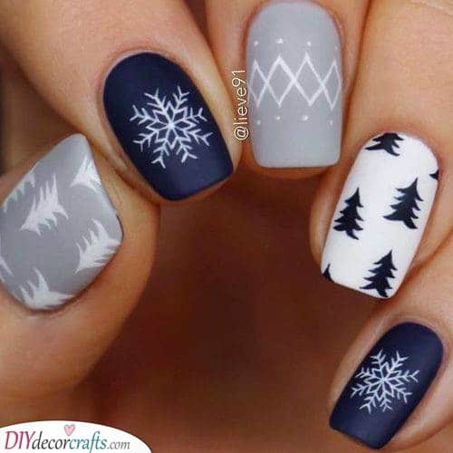 Snowflakes and Fir Trees - A Festive Feeling