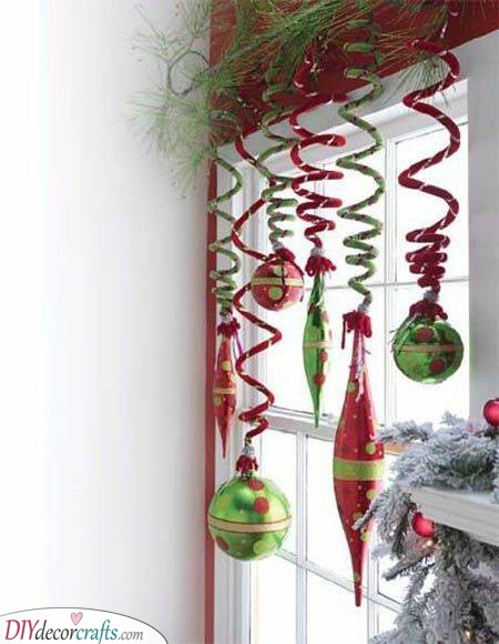 Spirals and Ornaments - In Red and Green