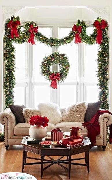 Elegant and Sophisticated - Christmas Wreaths on Windows