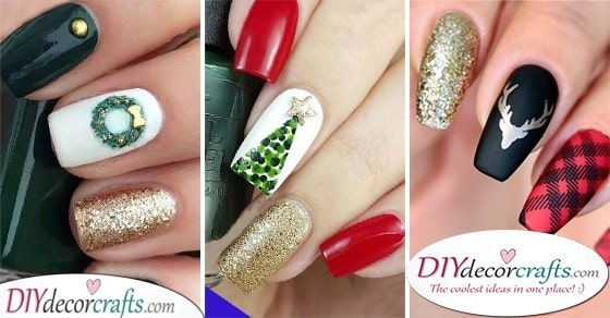 Christmas Nail Designs , A Collection of Easy Christmas Nails
