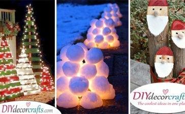 25 OUTDOOR CHRISTMAS DECORATION IDEAS - Easy Outdoor Christmas Decorating Ideas