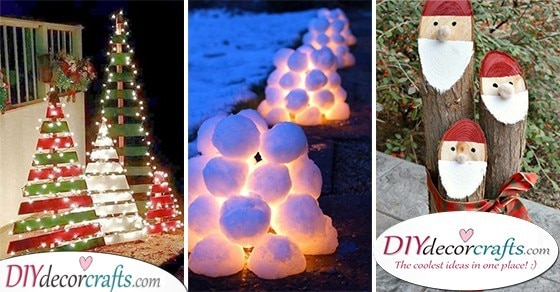 25 OUTDOOR CHRISTMAS DECORATION IDEAS - Easy Outdoor Christmas Decorating Ideas