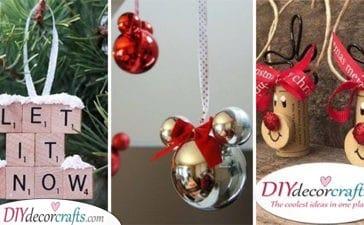 25 HOMEMADE CHRISTMAS TREE DECORATIONS - DIY Christmas Ornaments