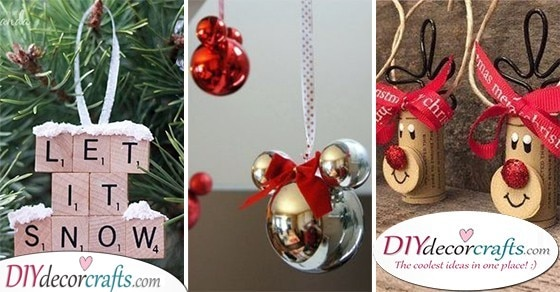 25 HOMEMADE CHRISTMAS TREE DECORATIONS - DIY Christmas Ornaments