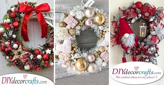 25 CHRISTMAS DOOR WREATHS - Christmas Door Decorations