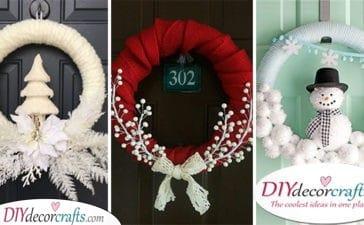 25 WINTER DOOR DECORATIONS - Wonderful Winter Wreath Ideas