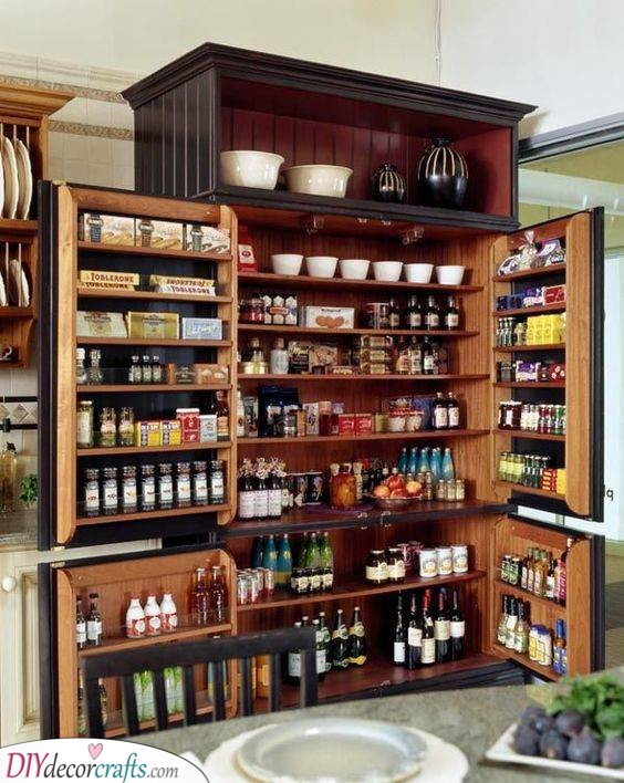 A Huge Cabinet - Kitchen Pantry Shelving Ideas