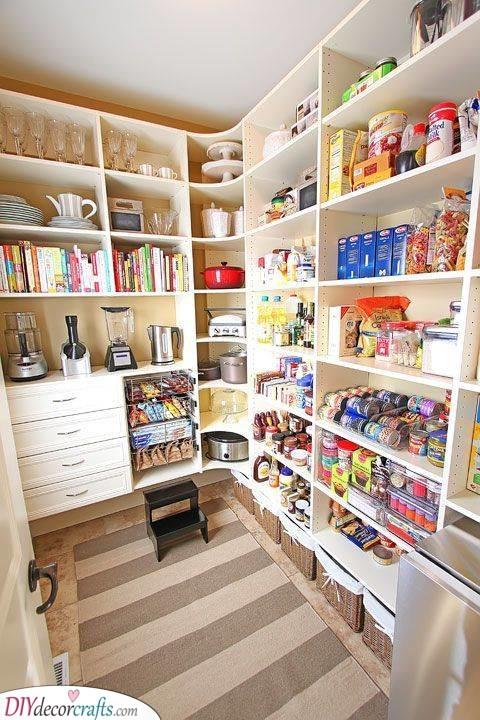 Large Shelves - Kitchen Pantry Shelving Ideas for Organization