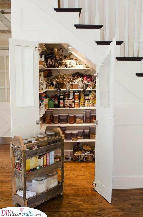 Make Use of Your Whole Home - Ideas for a Pantry