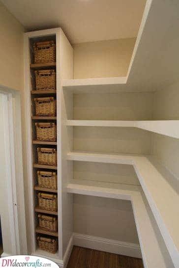 Corner Shelves - Small Pantry Organization