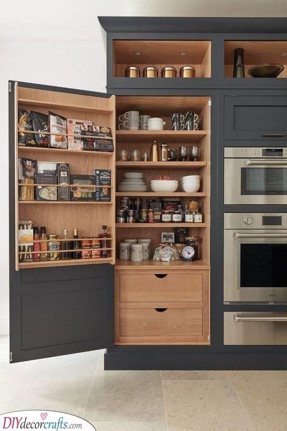 A Full Shelf - Kitchen Cabinet Organization Ideas
