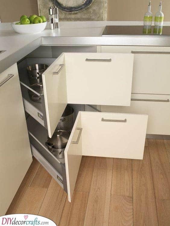 Corner Storage Ideas - Brilliant Kitchen Cabinet Storage Ideas