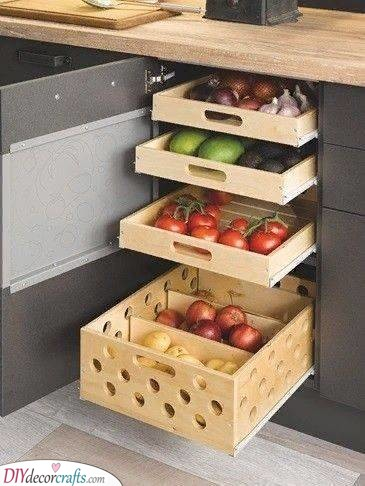 Pull-Out Boxes - For Some Fruit and Vegetables