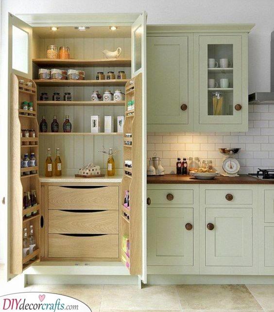 A Galore of Goods - Kitchen Cabinet Storage Ideas