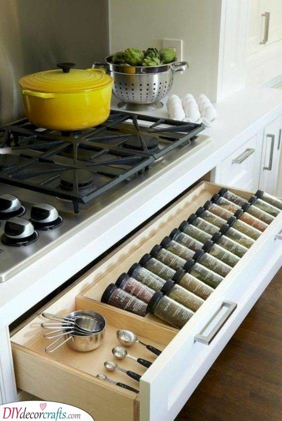 A Spice Rack - Close to the Stove