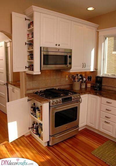 Use Up All the Space - Great for a Tiny Kitchen