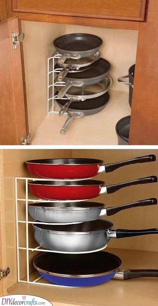 Frying Pans - Brilliantly Organized