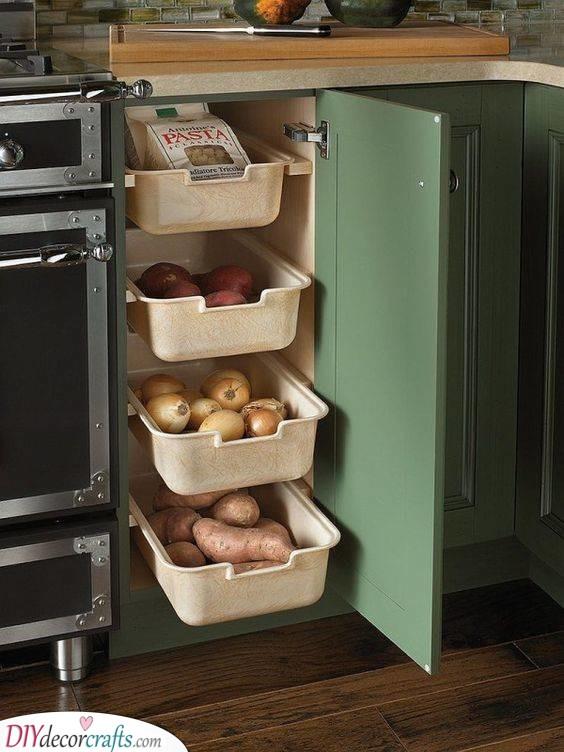 Plastic Boxes - Easy Kitchen Cabinet Organization Ideas