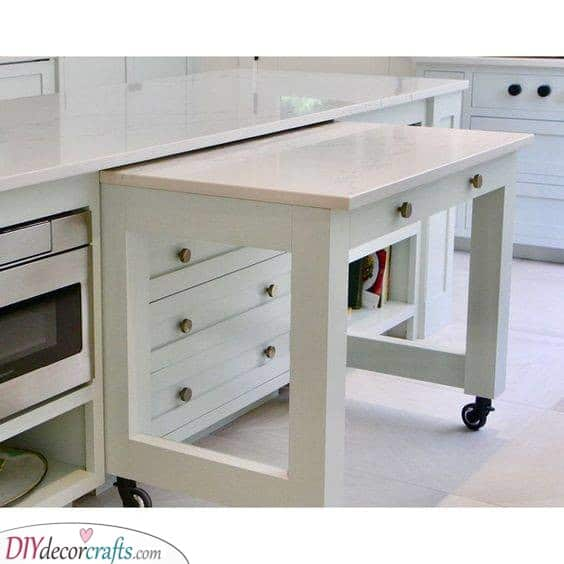 A Pull-Out Table - Great for Small Kitchens
