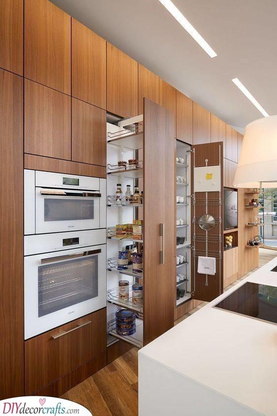 A Modern Look - Contemporary Kitchen Cabinet Storage Ideas